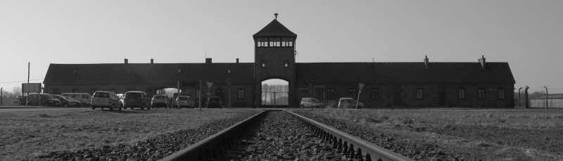 The gateway of Auschwitz 2 Birkenau