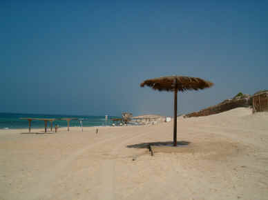 The beach at Caesarea in Israel