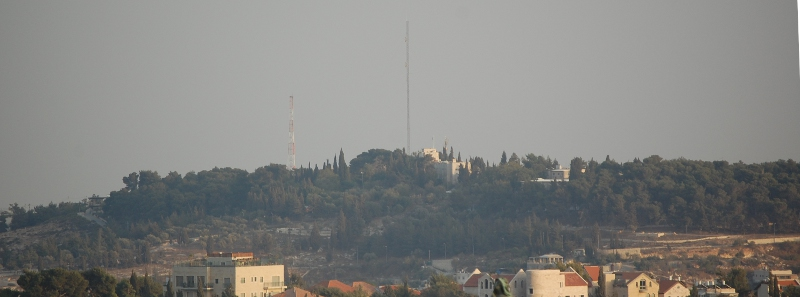 The Hill of Evil Counsel in Jerusalem - the U.N. HQ in Israel