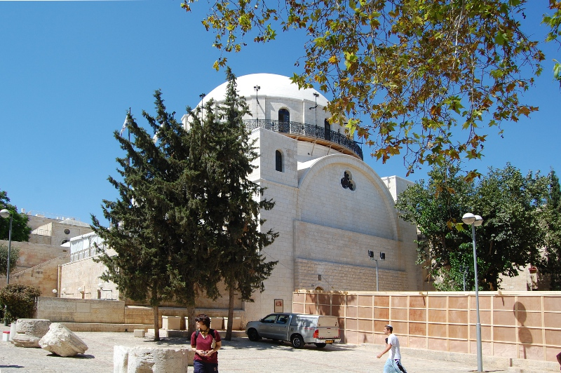The newly rebuilt Hurva Synagogue in Jerusalem