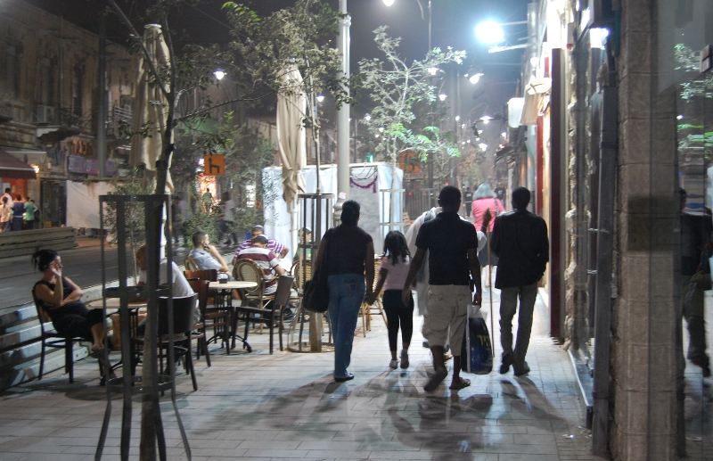 Jaffa Road, Jerusalem - at Sukkot