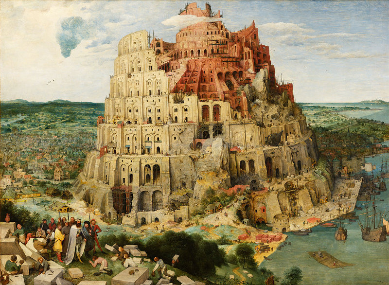 Pieter Bruegel the Elder - The Tower of Babel in Vienna