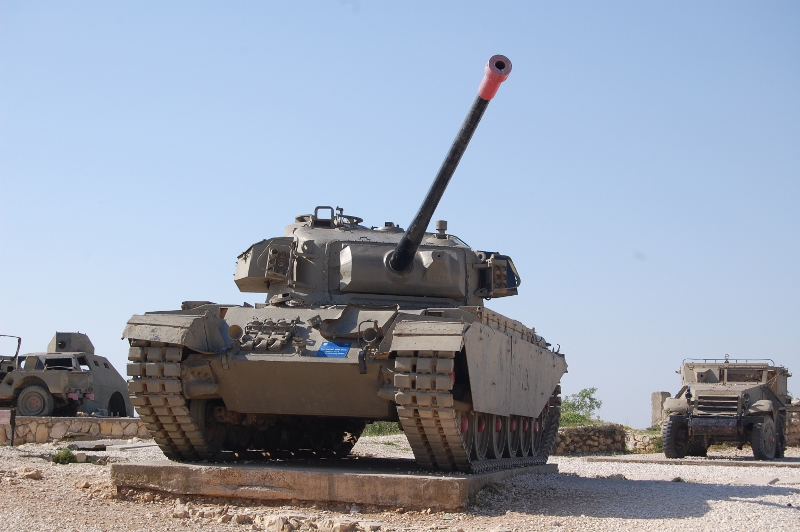 a tank at Har Adar, near Jerusalem