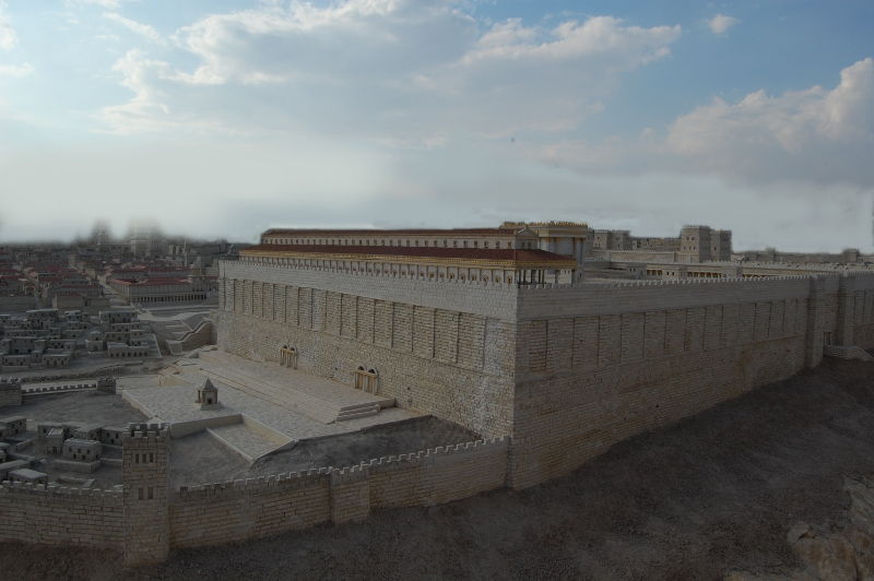 The second Temple in Jerusalem - from the gates at the south by which one would enter