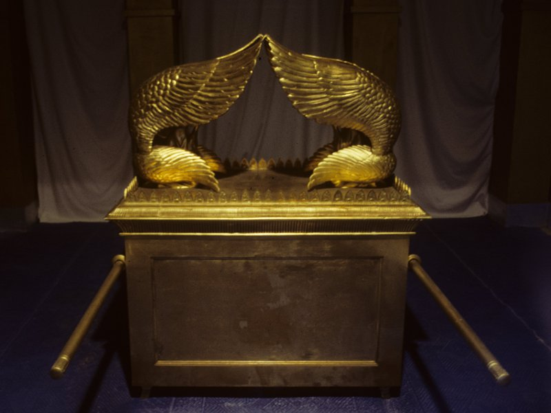 The Ark of the Covenant (replica) at the Wilderness Tabernacle, Israel
