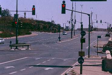 A Major road in Jerusalem at midday on Shabbat