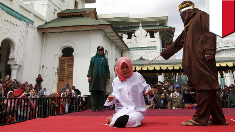 Sharia being enacted - images of beheading and stoning available on the Internet