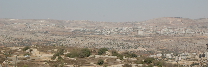 The Way of the Patriarchs seen from Biet El (Bethel).  The place of Jacob (Isael's) dream in the left foreground.
