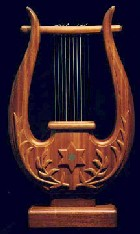 The Kinnor or 10 stringed harp of David